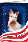 July 4th Card - featuring a wheaten Scottish Terrier card