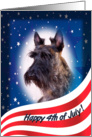 July 4th Card - featuring a brindle Scottish Terrier card