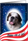 July 4th Card - featuring a Saint Bernard card
