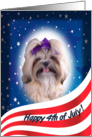 July 4th Card - featuring a Shih Tzu card