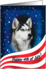 July 4th Card - featuring a Siberian Husky card
