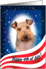July 4th Card - featuring a Welsh Terrier card