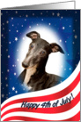 July 4th Card - featuring a Whippet card