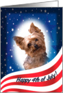 July 4th Card - featuring a Yorkshire Terrier card