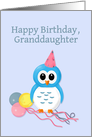 Happy Birthday Granddaughter with Cute Owl card