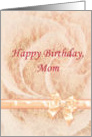 Happy Birthday Mom, feminine with pink lace card