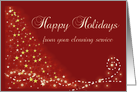Happy Holidays from Cleaning Service, Stylized Christmas Tree card