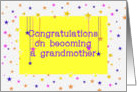 Congratulations New Grandmother, gender neutral colors card