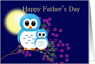 Father's Day with Cute Owls card