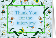 Thank You For Job Interview card