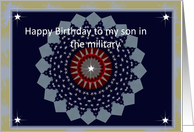 Happy Birthday to son in the Military card
