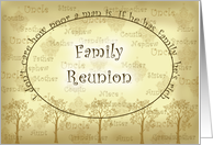 Family Reunion Invitation, Family Tree card