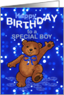 Happy Birthday Teddy Bear for Boy card