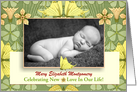Birth Announcement Photo Card Cheerful Butterflies card