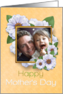 Happy Mother's Day Photo Card Zinnia Garden card