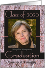 Graduation Announcement 2020 Pink Stone Photo Card