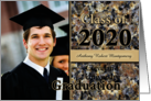 Custom Graduation Announcement 2020 Brown Stone Photo Card