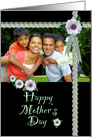 Mother's Day Photo Card Zinnias card