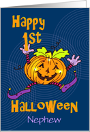 Nephew First Halloween Happy Pumpkin card