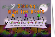 Swinging Halloween Wishes For Sister and Brother-in-law, Customized card