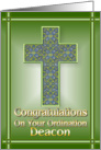 Deacon Congratulations card