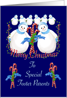 Christmas Snowmen for Foster Parents card