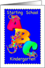 Starting School in Kindergarten card