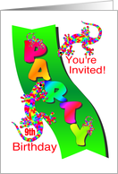 9th birthday invitations from greeting card universe 9th birthday party invitation card filmwisefo