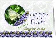 Happy Easter Daughter-in-law Butterfly and Flowers card