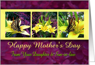 Happy Mother's Day Butterflies from Daughter and Son-in-law card