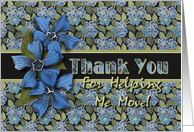 Moving Help Thank You Forget-me-nots card