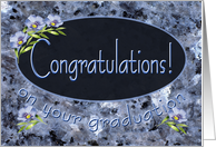 Congratulations College Graduate Wildflowers card