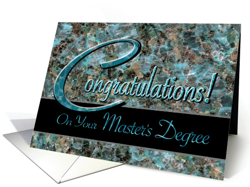 Congratulations on Master's Degree Turquoise Stone card (619214)