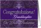 Granddaughter Graduation Congratulations Purple Stone card