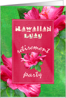 Retirement Luau Party Invitations card