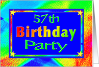 57th Birthday Party Invitations Bright Lights card