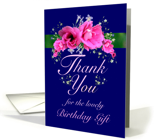 Birthday Gift Thank You Pink Flower Bouquet card (625830)