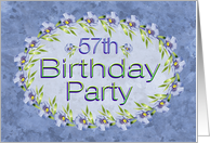 57th Birthday Party Invitations Lavender Flowers card