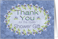 Baby Shower Gift Thank You with Lavender Flowers card