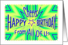 From All of Us Birthday Starburst Spectacular card