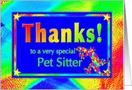 Thanks to Pet Sitter with Bright Lights and Stars card