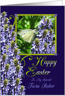 Easter Butterfly Garden Greeting For Twin Sister card