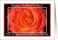 Mother's Day Lesbian Mom, Blaze Rose card