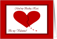 Love and Romance for Her Bleeding Heart card
