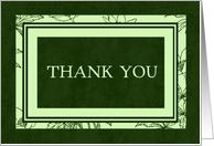 Green Thank You for the Interview Card