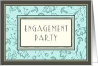 Turquoise Engagement Party Invitation Card