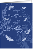 Blue Best Friend Birthday Card