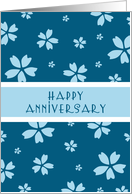 Blue Happy Anniversary Card