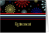 Colorful Retirement Announcement Card