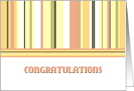 Stripes Congratulations New Job Card